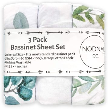 NODNAL CO. Best Bassinet Sheets