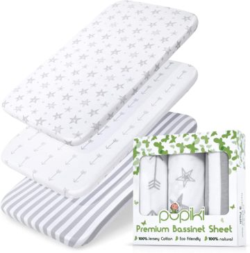 PUPIKI Best Bassinet Sheets