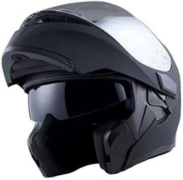1Storm Matte Black Motorcycle Helmets