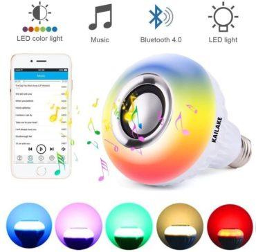 KAILAKE Best Bluetooth Light Bulb Speakers